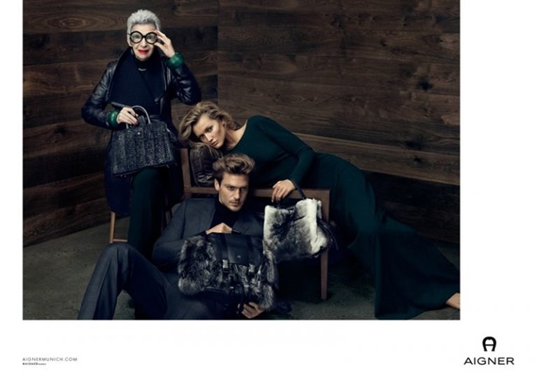 CAMPAIGN Iris Apfel & Toni Garrn for Aigner Fall 2016 by Terry Tsiolis. www.imageamplified.com, image Amplified (4)