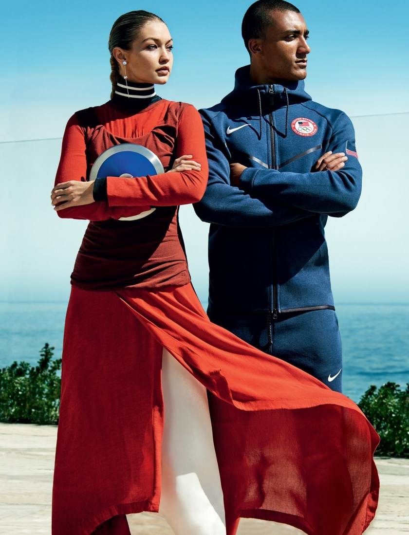 VOGUE MAGAZINE Gigi Hadid & Ashton Eaton by Mario Testino. Tonne Goodman, August 2016, www.imageamplified.com, Image Amplified8