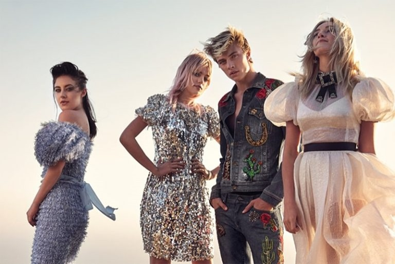 C MAGAZINE Pyper America Smith, Sarlie, Daisy Clementine & Lucky Blue Smith by Mary McCartney. Alison Edmond, Fall 2016, www.imageamplified.com, Image Amplified (3)
