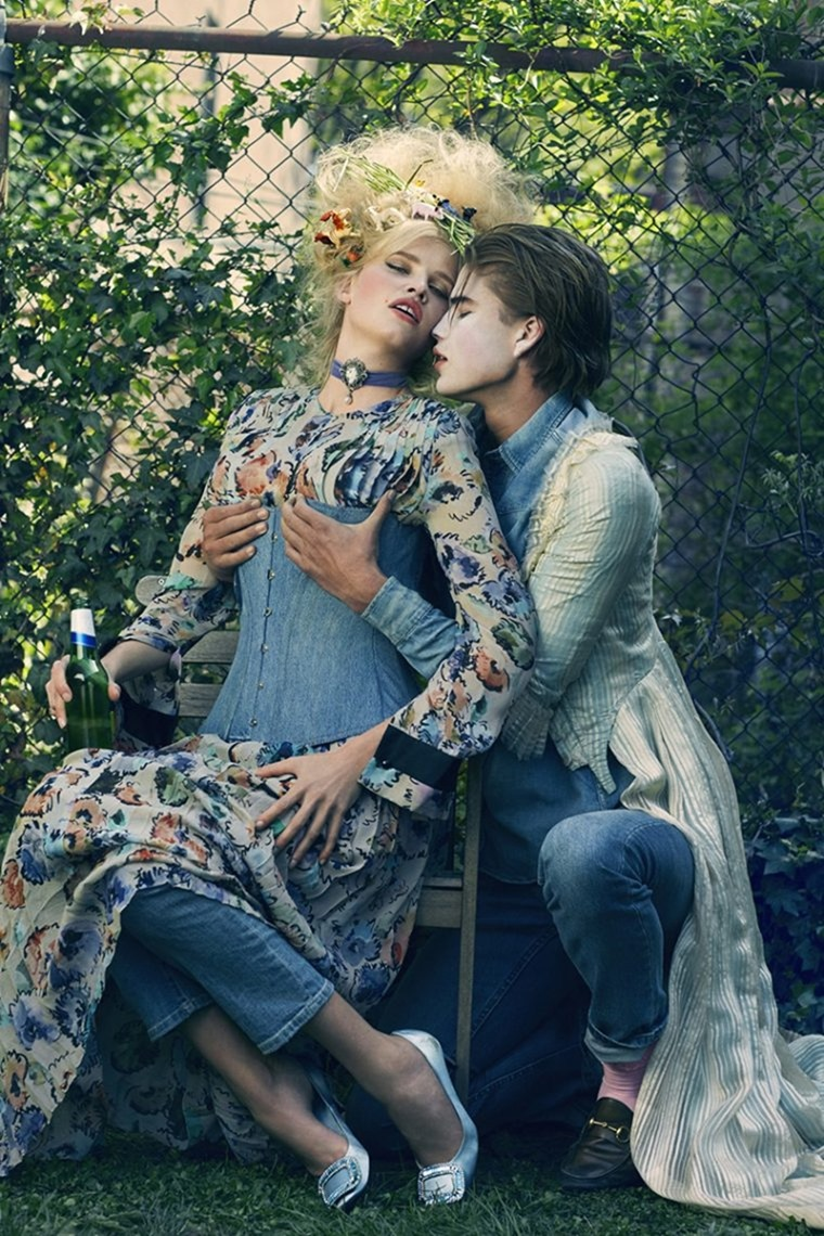 CR FASHION BOOK Lara Stone & Filip Hrivnak by Sebastian Faena. Carine Roitfeld, Fall 2016, www.imageamplified.com, Image Amplified (1)