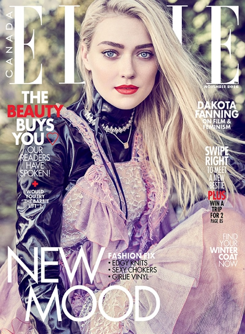 ELLE CANADA Dakota Fanning by Max Abadian. Julianna Schiavinatto, November 2016, www.imageamplified.com, Image Amplified7