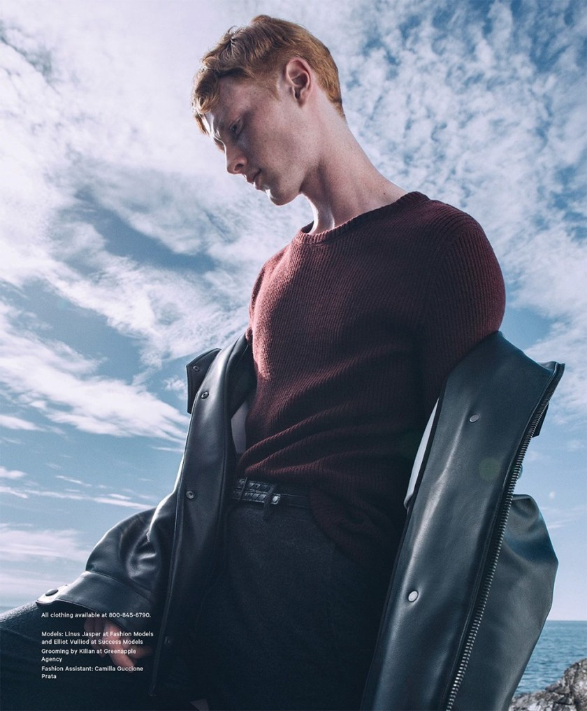 ESSENTIAL HOMME Linus Jasper & Elliot Vulliod by Byron Mollinedo. Joshua Glass, Fall 2016, www.imageamplified.com, Image Amplified12