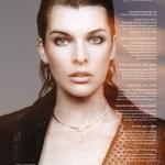 GLASS MAGAZINE: Milla Jovovich by Bojana Tatarska