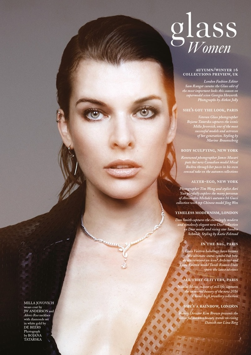 GLASS MAGAZINE Milla Jovovich by Bojana Tatarska. Marine Braunschvig, Fall 2016, www.imageamplified.com, Image Amplified (3)