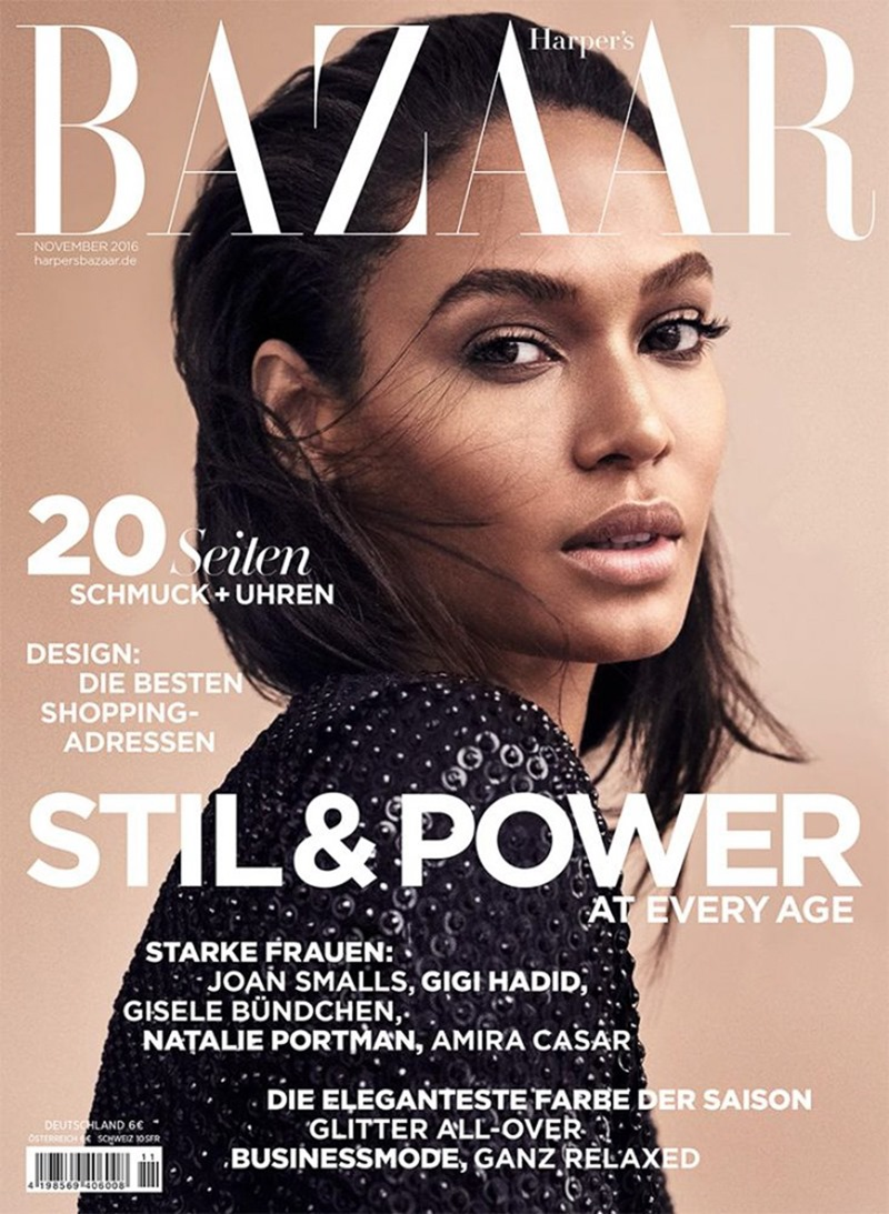 HARPER'S BAZAAR GERMANY Joan Smalls by Marcus Ohlsson. Kerstin Schneider, November 2016, www.imageamplified.com, Image Amplified1