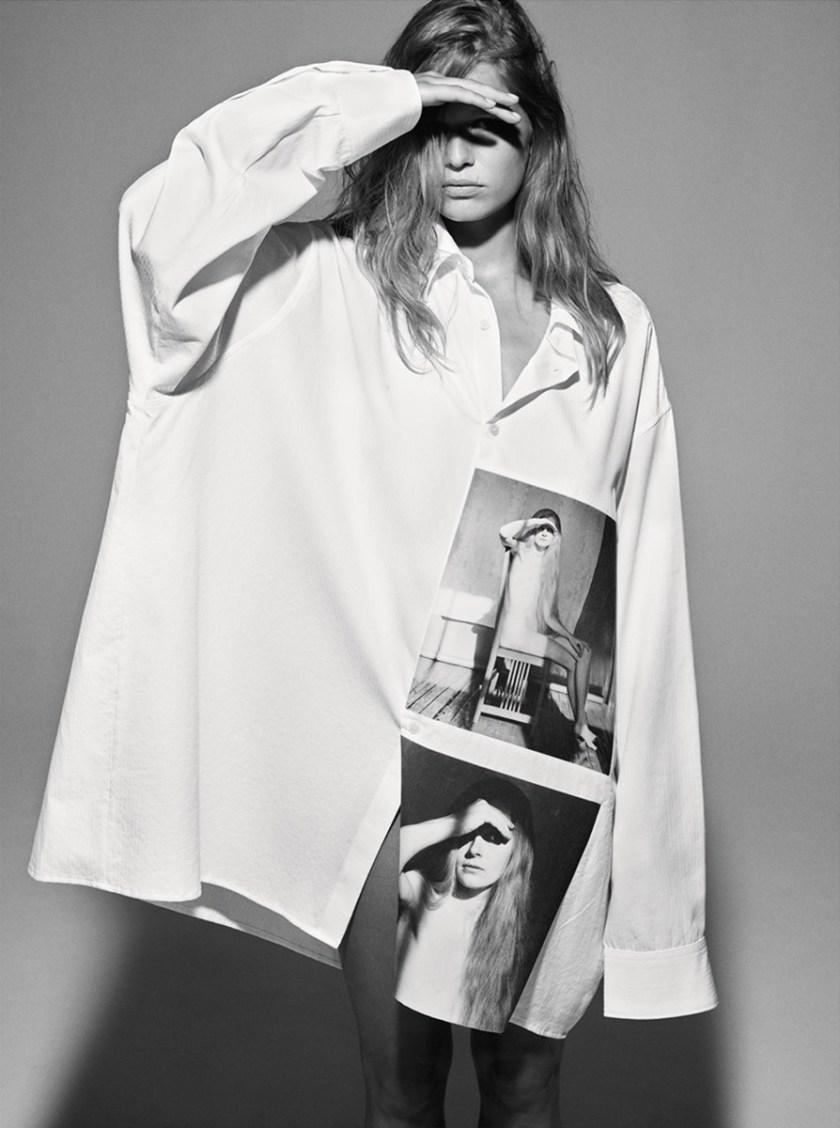 I d magazine anna ewers by mario sorrenti image amplified for Raf simons robert mapplethorpe shirt