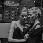 VOGUE NETHERLANDS: Lara Stone & Elisa Hupkes by Peter Lindbergh