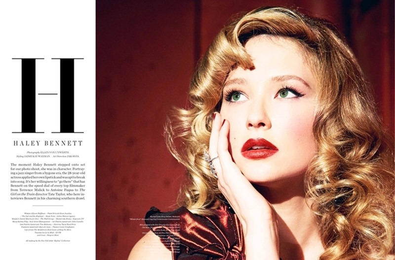 VS. MAGAZINE Haley Bennett by Ellen von Unworthy. Jaime Kay Waxman, Fall 2016, www.imageamplified.com, Image Amplified11