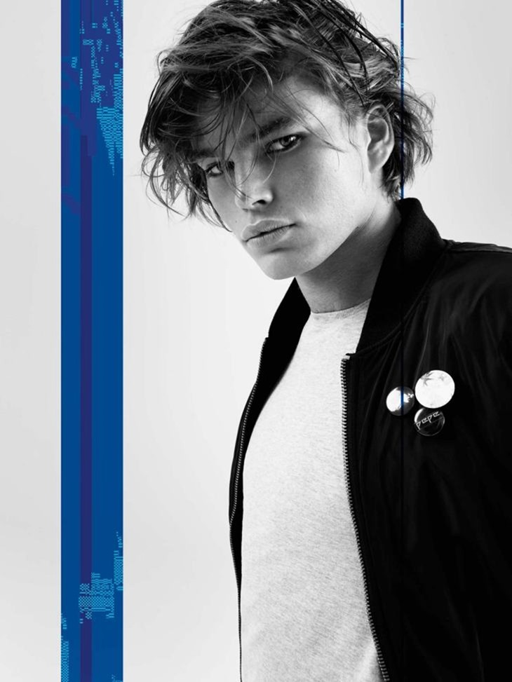 CAMPAIGN Jordan Barrett for Pepe Jeans Fall 2016 by Scott Trindle. www.imageamplified.com, Image Amplified (8)