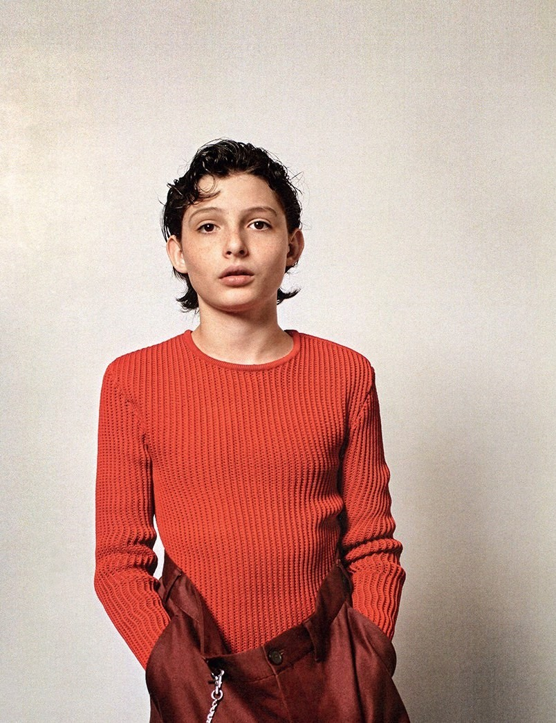 DAZED MAGAZINE Millie Bobby Brown & Finn Wolfhard by Collier Schorr. Robbie Spencer, Fall 2016, www.imageamplified.com, Image Amplified1