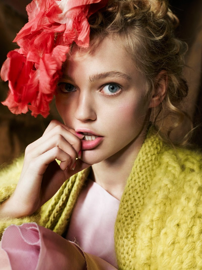 Style Rewind Sasha Pivovarova For Vogue Uk, December 2007 -2963