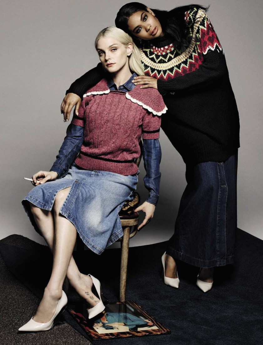 VOGUE ITALIA Jessica Stam & Chanel Iman by Michel Comte. Giulio Martinelli, Aya Ko, November 2016, www.imageamplified.com, Image Amplified14