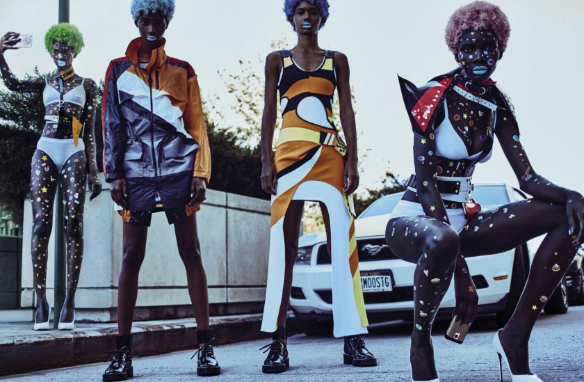 VOGUE ITALIA The Now Squad by Steven Klein. Patti Wilson, November 2016, www.imageamplified.com, Image Amplified1