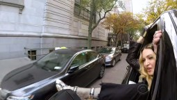 Madonna lets it all hang out during Carpool Karaoke. Image Amplified www.imageamplified.com