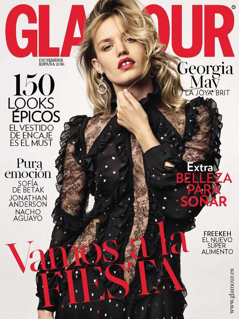 GLAMOUR SPAIN Georgia May Jagger by Jonas Bresnan. Miriam Arruga, December 2016, www.imageamplified.com, Image Amplified1