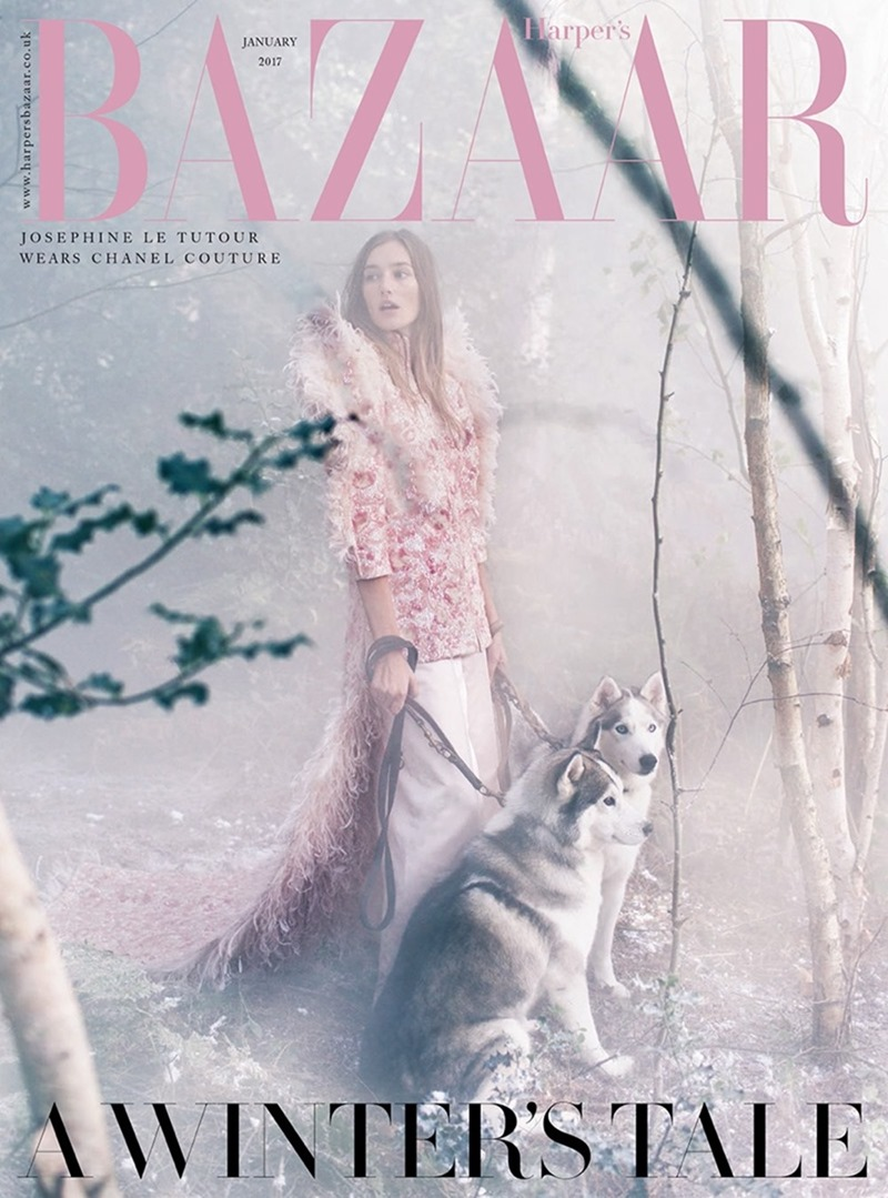 HARPER'S BAZAAR UK Josephine le Tutour by Alexandra Sophie. Charlie Harrington, January 2017, www.imageamplified.com, image Amplified1