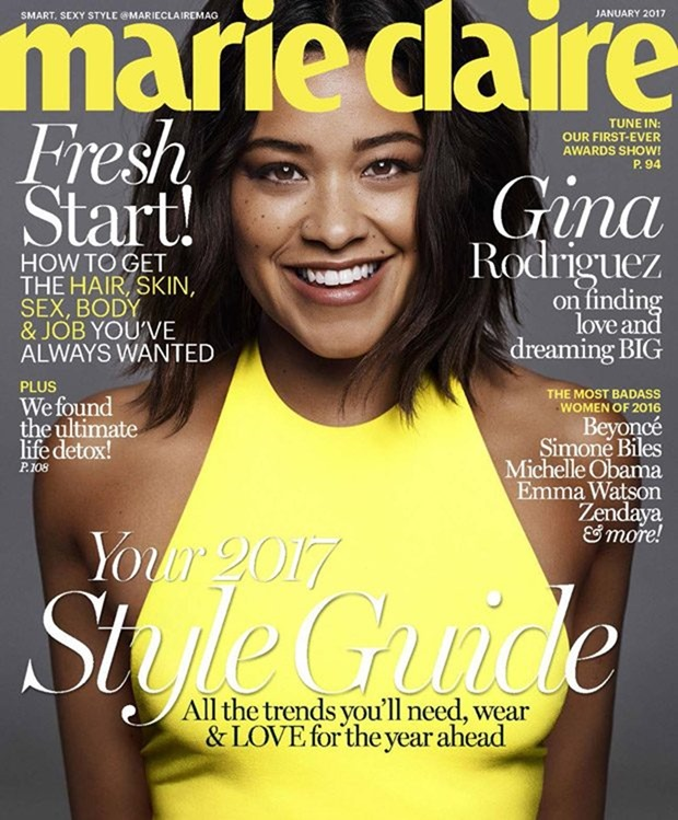 MARIE CLAIRE MAGAZINE Gina Rodriguez by Jan Welters. Alison Edmond, January 2017, www.imageamplified.com, Image Amplified1