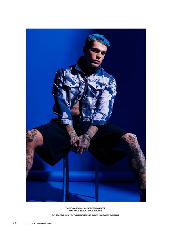 ODDITY MAGAZINE Stephen James by Charl Marais. Farah Rose, Fall 2016, www.imageamplified.com, Image amplified5