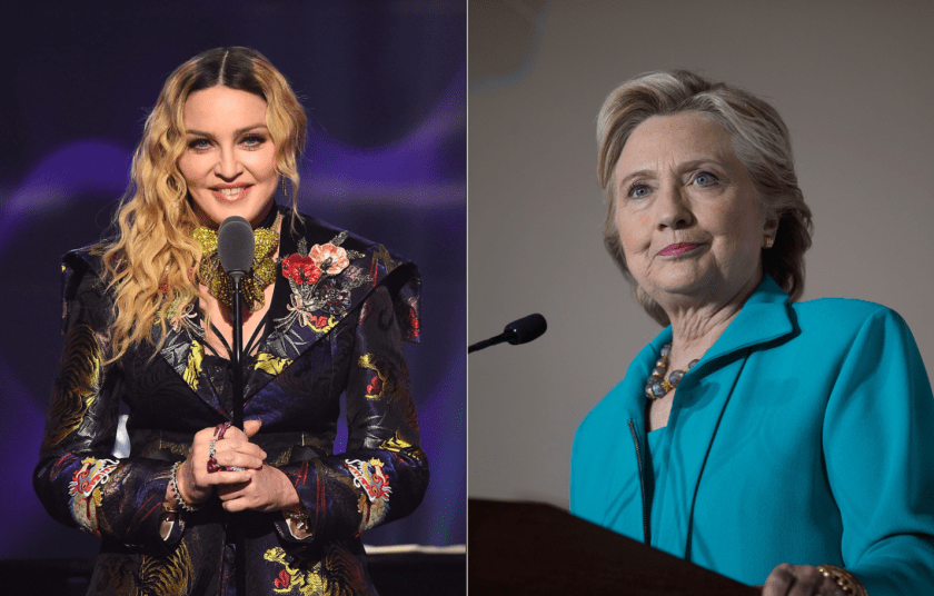 Madonna and Hillary Clinton, trailblazers. Image Amplified www.imageamplified.com