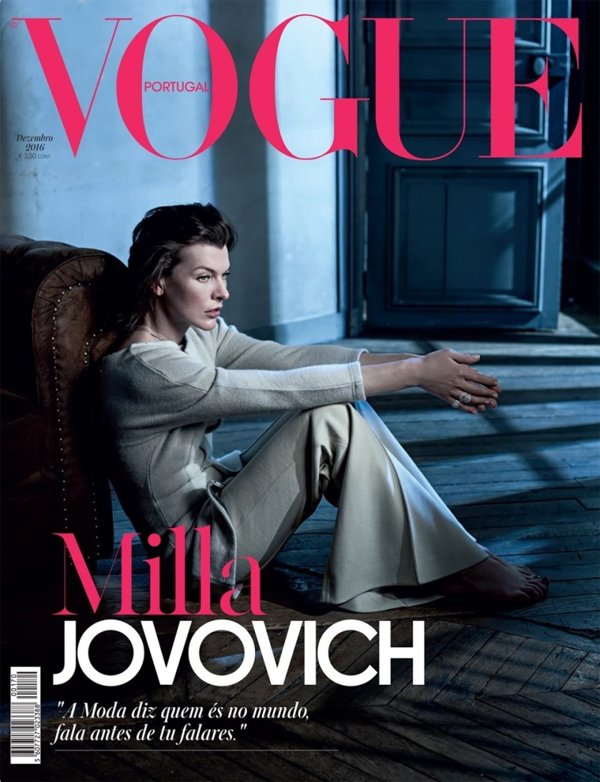 VOGUE PORTUGAL Milla Jovovich by Frederico Martins. Ana Campos, December 2016, www.imageamplified.com, Image Amplified1