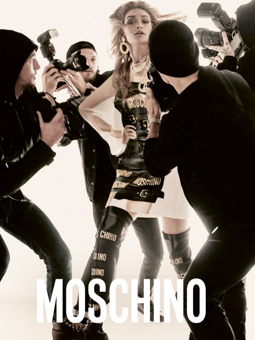 CAMPAIGN Gigi Hadid & Bella Hadid for Moschino Spring 2017 by Steven Meisel. Carlyne Nerf De Dudzeele, www.imageamplified.com, Image Amplified4