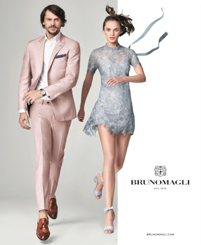 CAMPAIGN Romulo Pires & Polina Grebeniuk for Bruno Magli Spring 2017 by Nino Munoz. Katie Mossman, www.imageamplified.com, Image Amplified3