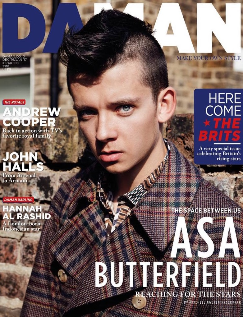 DAMAN MAGAZINE Asa Butterfield by Mitchell Nguyen McCormack. Steven Down, January 2017, www.imageamplified.com, image amplified1
