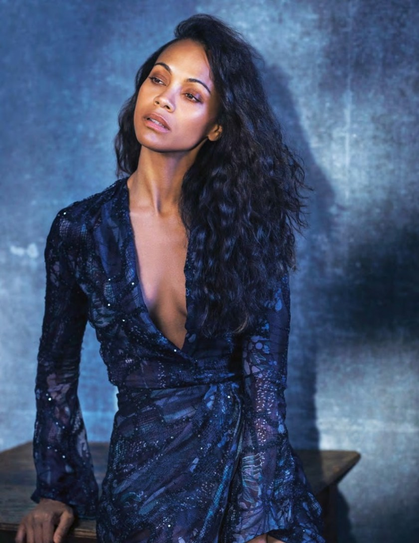 GRAZIA ITALIA Zoe Saldana by Kurt Iswarienko. Petra Flannery, January 2017, www.imageamplified.com, Image Amplified1