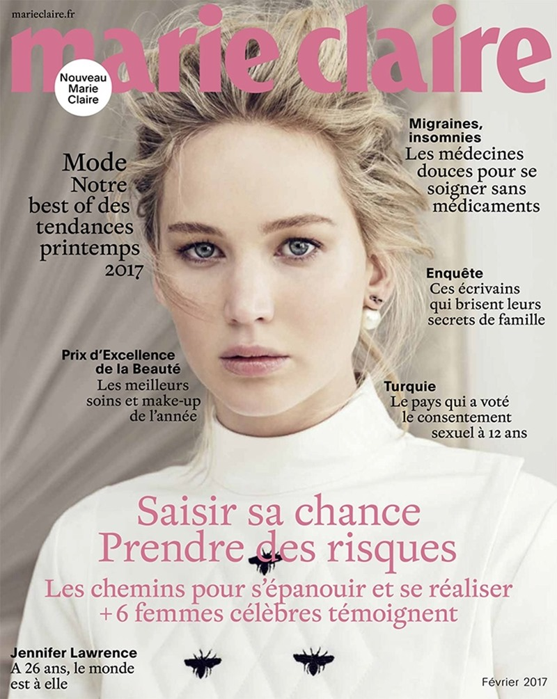 MARIE CLAIRE FRANCE Jennifer Lawrence by Sebastian Kim. February 2017, www.imageamplified.com, Image Amplified1