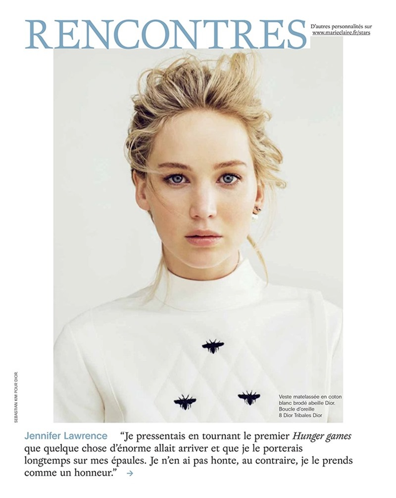 MARIE CLAIRE FRANCE Jennifer Lawrence by Sebastian Kim. February 2017, www.imageamplified.com, Image Amplified2