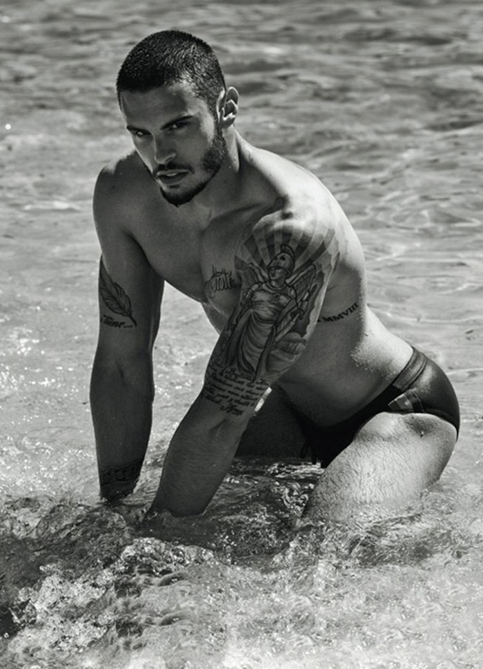 MASCULINE DOSAGE Baptiste Giabiconi for Le Calendrier 2017 by Mariano Vivanco. www.imageamplified.com, Image Amplified8