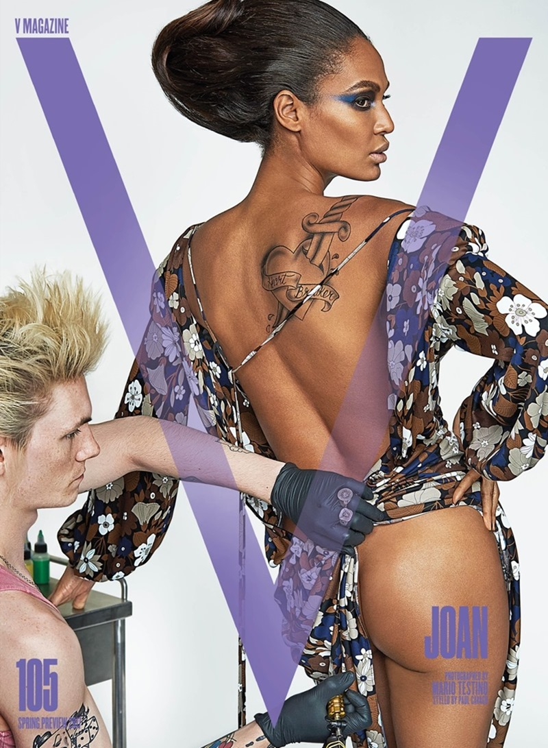 PREVIEW Lara Stone, Joan Smalls, Carolyn Murphy, Amber Valletta & Ellen Rosa for V Magazine, Spring 2017 by Mario Testing. Paul Cavaco, www.imageamplified.com, Image Amplified4