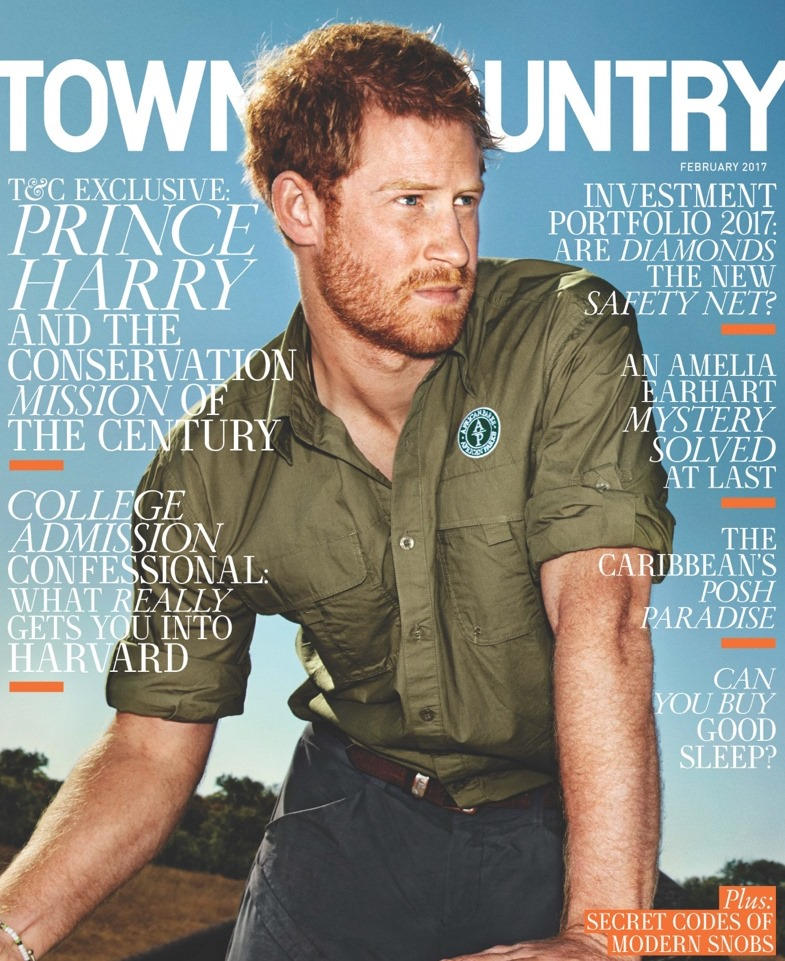TOWN & COUNTRY Prince Harry by Alexei Hay. February 2017, www.imageamplified.com, Image Amplified1