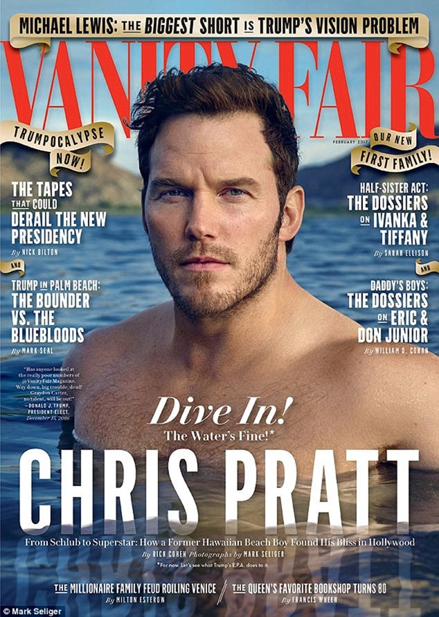 VANITY FAIR MAGAZINE Chris Pratt by Mark Seliger. February 2017, www.imageamplified.com, Image amplified1
