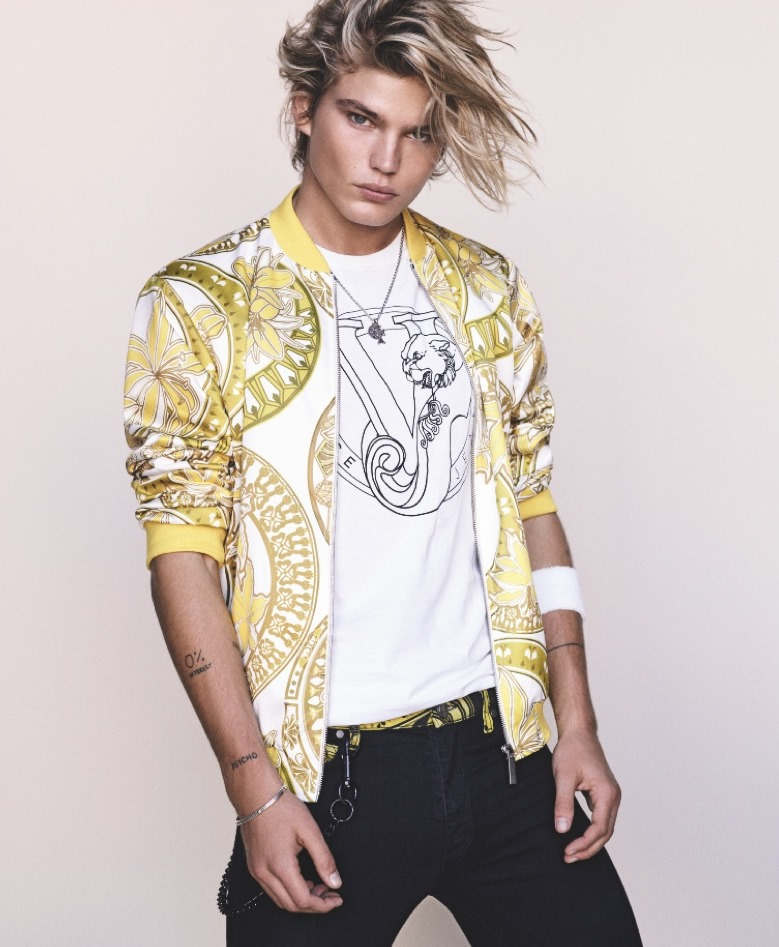CAMPAIGN Jordan Barrett & Lexi  Boling for Versace Jean Spring 2017 by Luigi & Iango. www.imageamplified.com, Image Amplified2