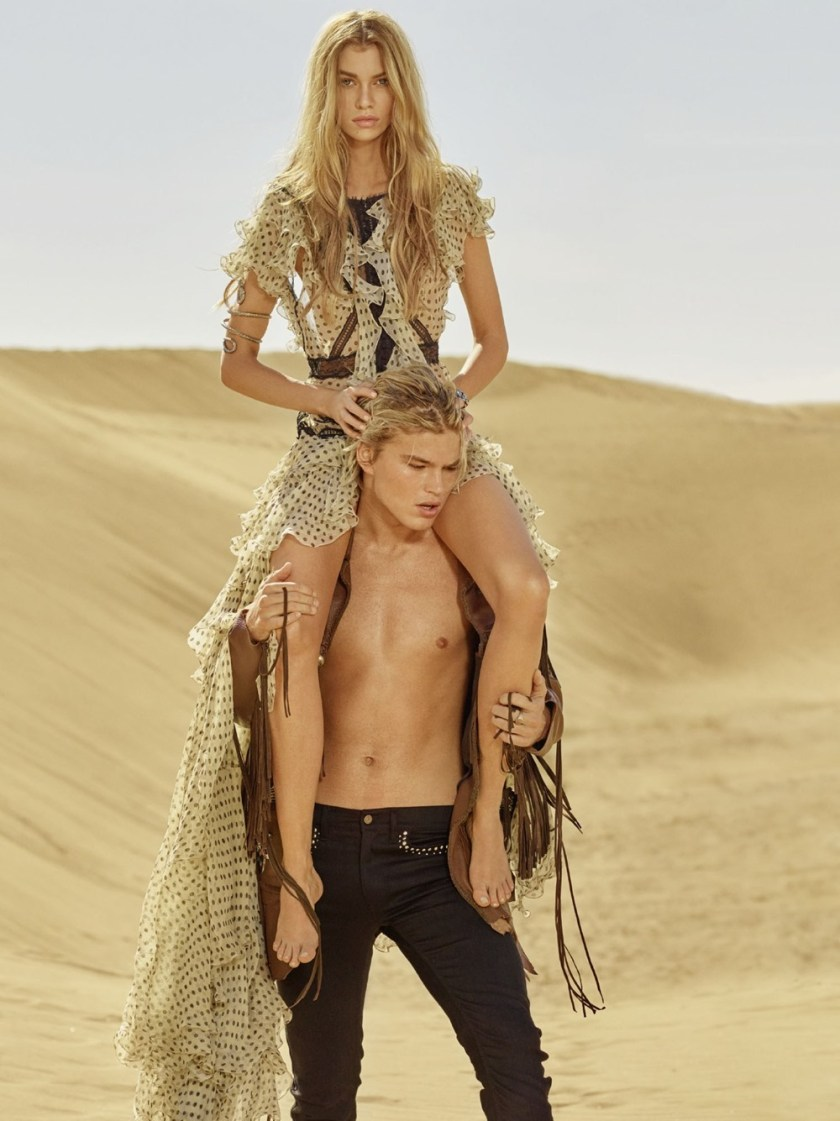 CAMPAIGN Stella Maxwell & Jordan Barrett for Roberto Cavalli Spring 2017 by Morelli Brothers. www.imageamplified.com, Image Amplified6