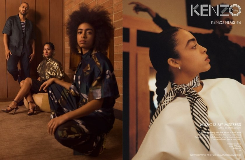 CAMPAIGN Tracee Ellis Ross, Jesse Williams & Kelsey Lu for Kenzo Spring 2017 by Durimel. Julia Sara Jamois, www.imageamplified.com, Image Amplified5