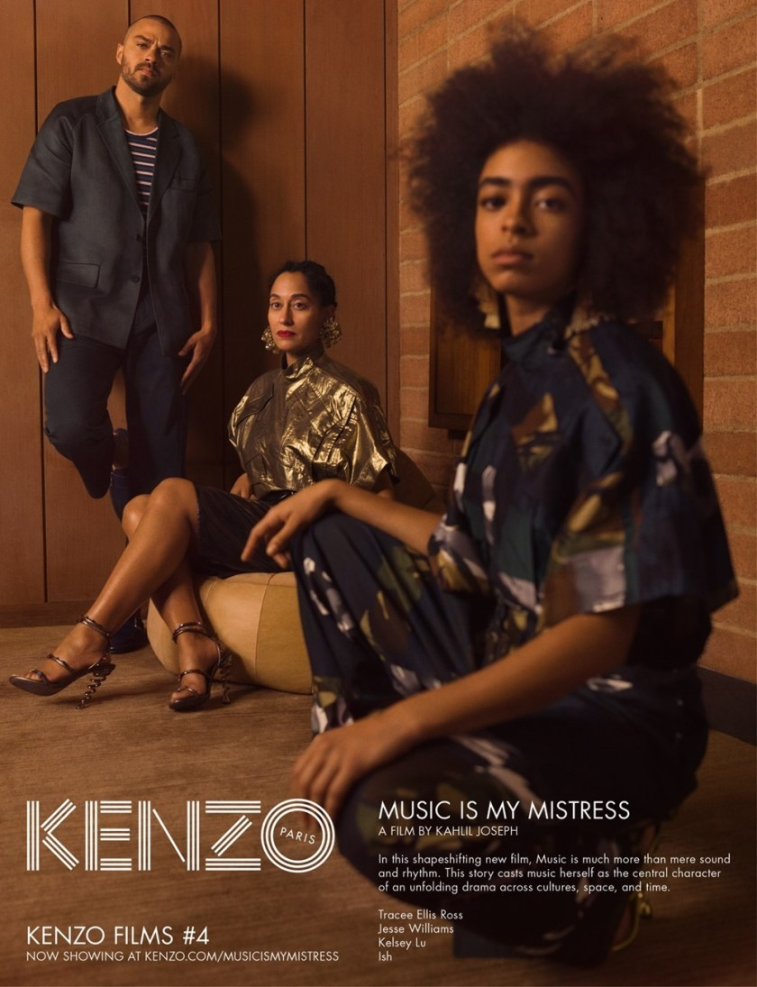 CAMPAIGN Tracee Ellis Ross, Jesse Williams & Kelsey Lu for Kenzo Spring 2017 by Durimel. Julia Sara Jamois, www.imageamplified.com, Image Amplified7
