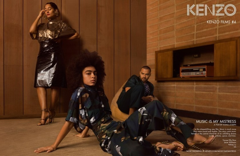 CAMPAIGN Tracee Ellis Ross, Jesse Williams & Kelsey Lu for Kenzo Spring 2017 by Durimel. Julia Sara Jamois, www.imageamplified.com, Image Amplified1