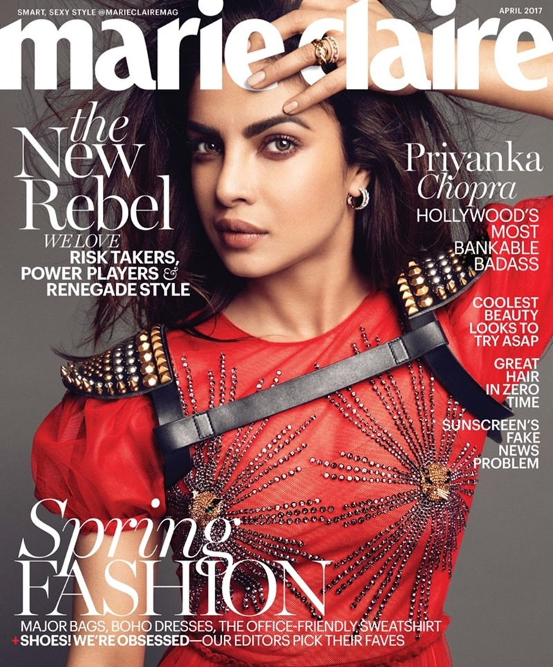 MARIE CLAIRE MAGAZINE Priyanka Chopra by Tesh. April 2017, www.imageamplified.com, Image Amplified3
