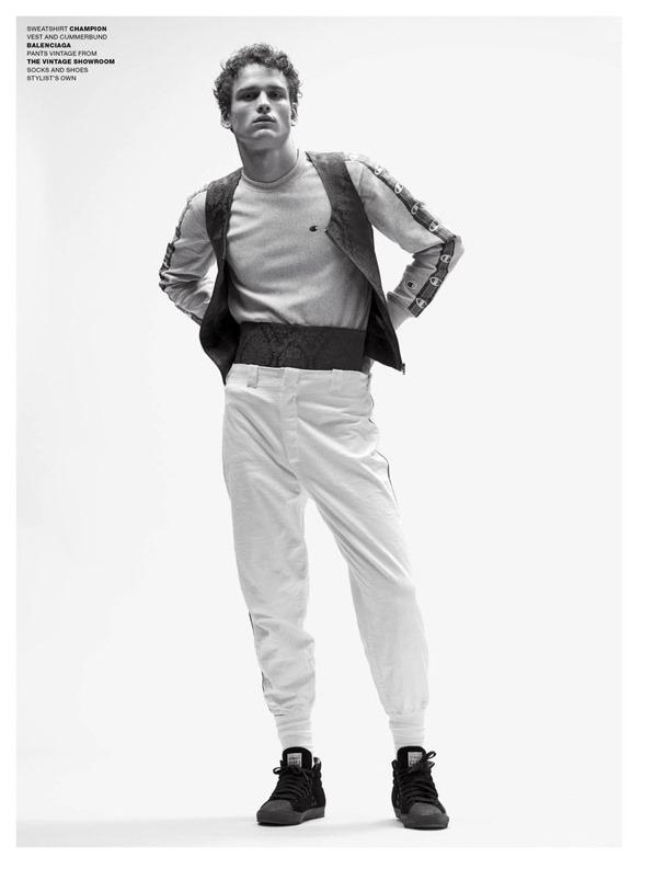 VMAN MAGAZINE Simon Nessman by Benjamin Alexander Huseby. Tom Guinness, Spring 2017, www.imageamplified.com, Image Amplified10