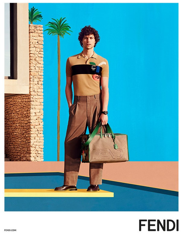 CAMPAIGN Miles McMillan for Fendi Spring 2017 by Mel Bles. Julian Ganio, www.imageamplified.com, Image Amplified1
