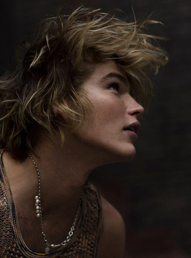 RUSSH MAGAZINE Jordan Barrett by Max Papendieck. Melissa Levy, Spring 2017, www.imageamplified.com, Image Amplified6