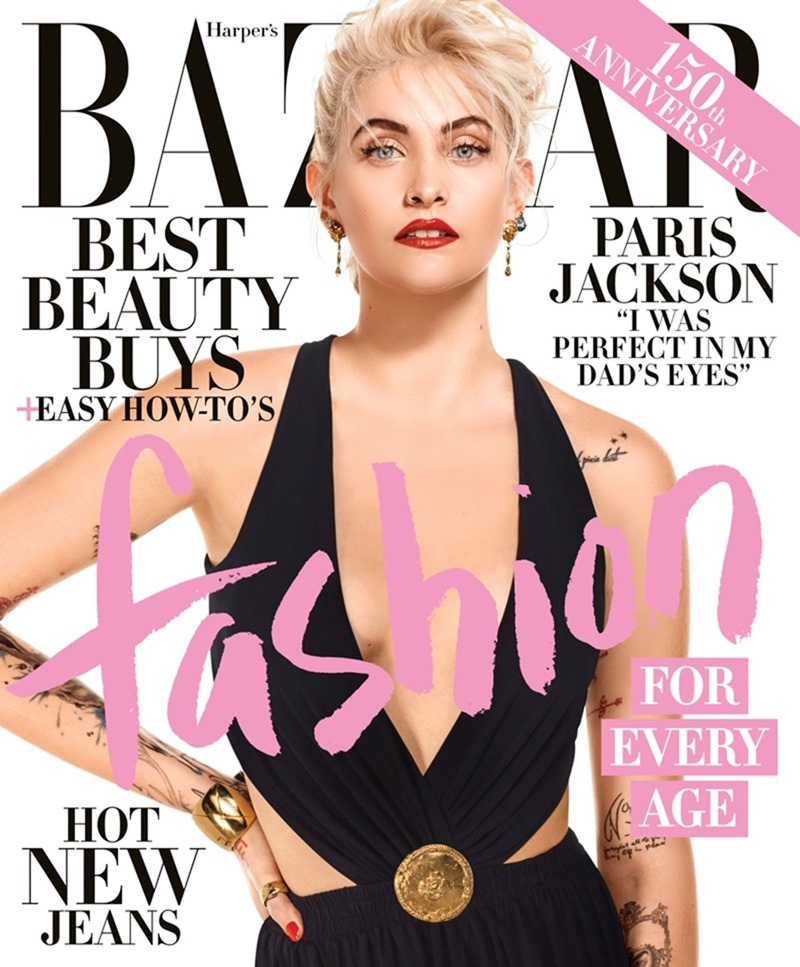 HARPER'S BAZAAR MAGAZINE Paris Jackson by Jean-Paul Goude. Alex Aikiu, April 2017, www.imageamplified.com, Image Amplified3