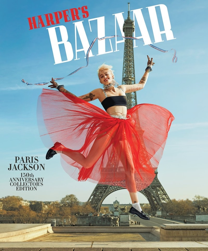 HARPER'S BAZAAR MAGAZINE Paris Jackson by Jean-Paul Goude. Alex Aikiu, April 2017, www.imageamplified.com, Image Amplified2