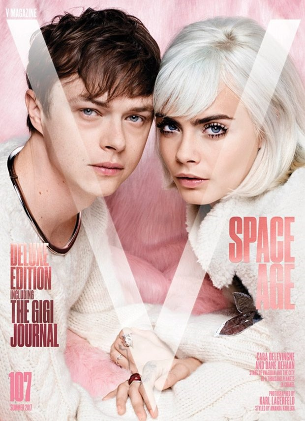 V MAGAZINE Cara Delevigne & Dane DeHaan by Karl Lagerfeld. Amanda Harlech, Summer 2017, www.imageamplified.com, Image Amplified4
