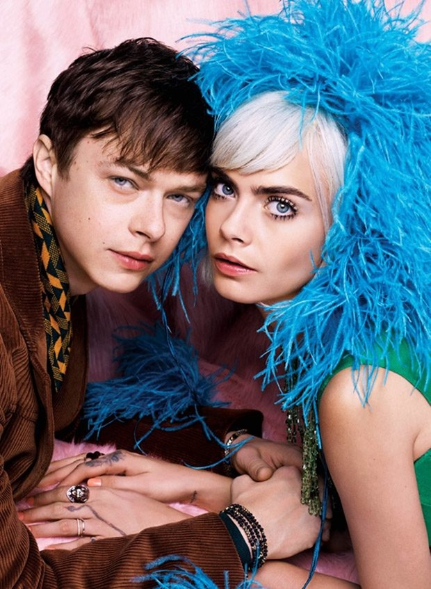 V MAGAZINE Cara Delevigne & Dane DeHaan by Karl Lagerfeld. Amanda Harlech, Summer 2017, www.imageamplified.com, Image Amplified1