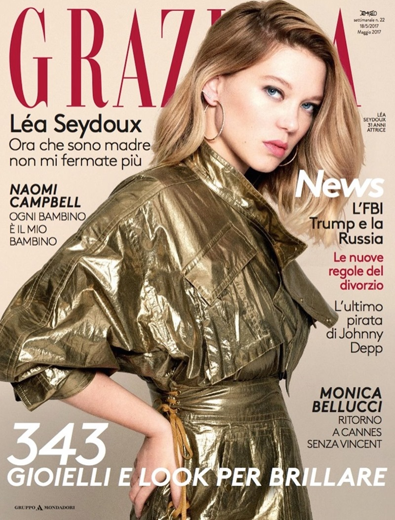 GRAZIA ITALIA Lea Seydoux by Tiago Banderaa. Michele Bagnara, May 2017, www.imageamplified.com, Image Amplified1