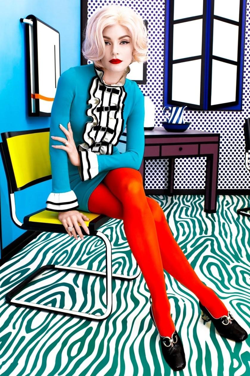 HARPER'S BAZAAR MAGAZINE Jessica Star by Kenneth Willardt. Joanna Hillman, May 2017, www.imageamplified.com, Image Amplified2