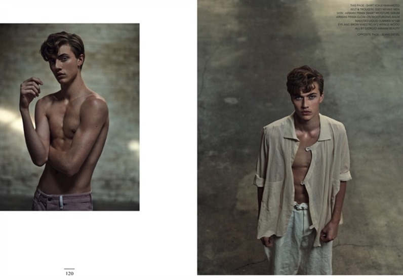 NARCISSE MAGAZINE Lucky Blue Smith by Marcin Tyszka. Rene Gloor, Summer 2017, www.imageamplified.com, Image Amplified3
